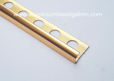 10mm Aluminium Tile Edge Trim , Anti - Oxidation Metal Trim Pieces For Tile